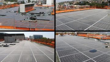 Installation des panneaux photovoltaïques de l'IMREDD