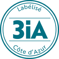 Label 3ia Bleu